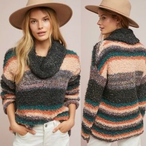 Anthropologie Moth Murray Striped Mohair Sweater